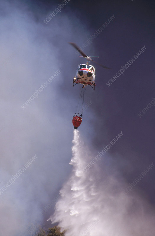 Bell UH1E firefighting helicopter