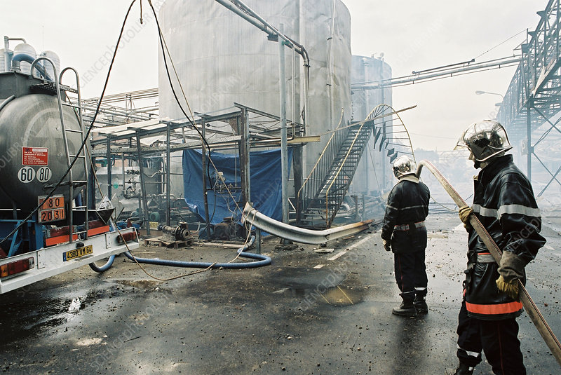 Industrial disaster clean-up operation