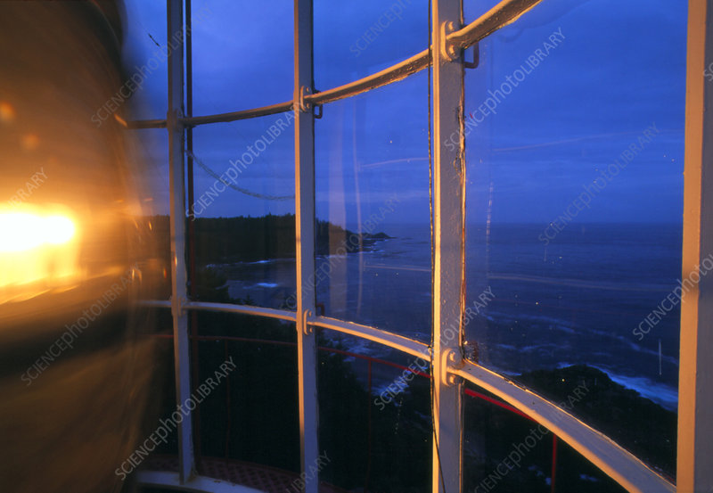 View from a lighthouse at dusk