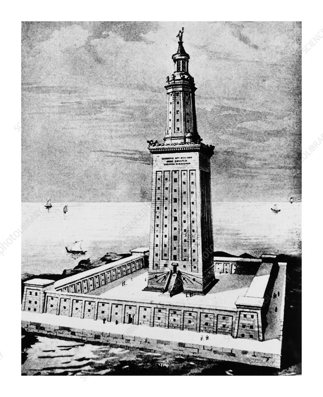 The Pharos of Alexandria lighthouse, Egypt