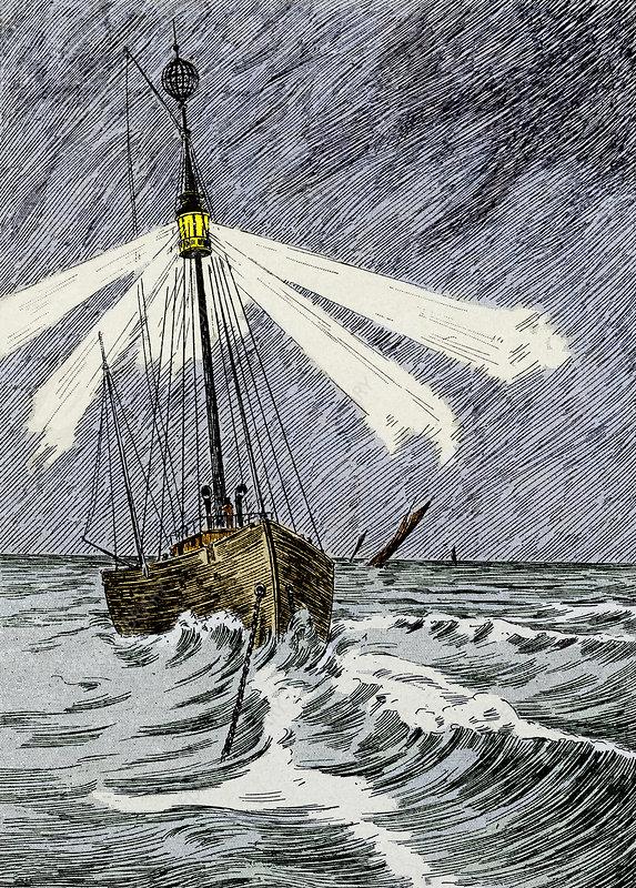 19th-century lightship