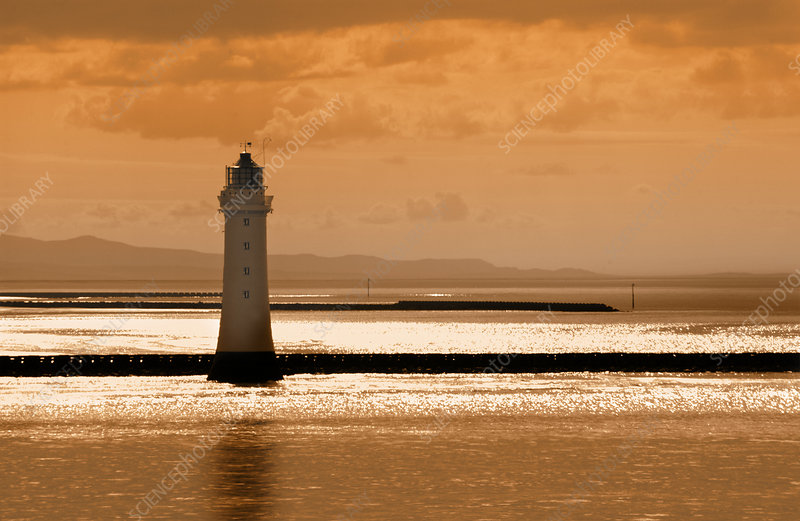 New Brighton Lighthouse, Liverpool, UK