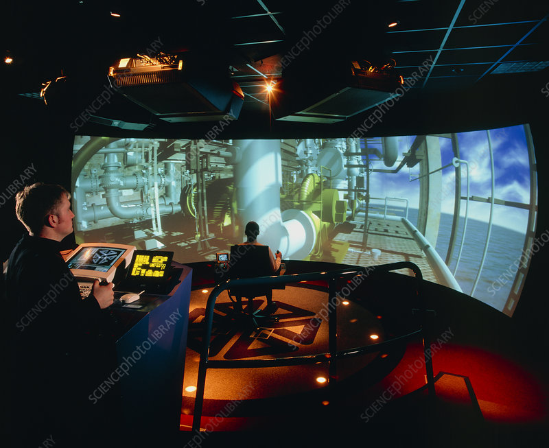 General view of Reality Centre simulator (oil rig)