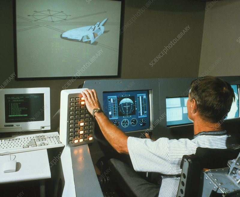 Flight simulator for the X-33 reusable rocket