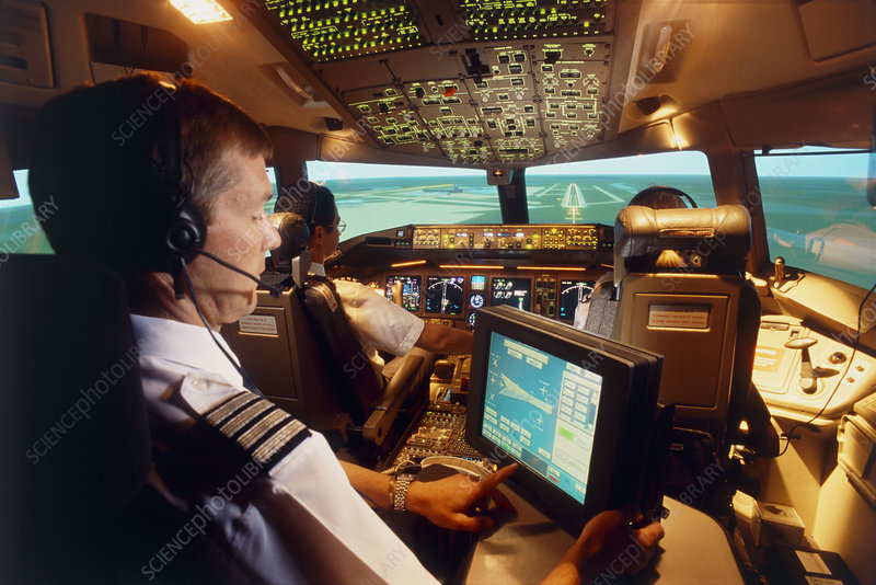 Flight simulator - Stock Image - T680/0067 - Science Photo