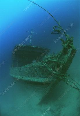 Submerged shipwreck