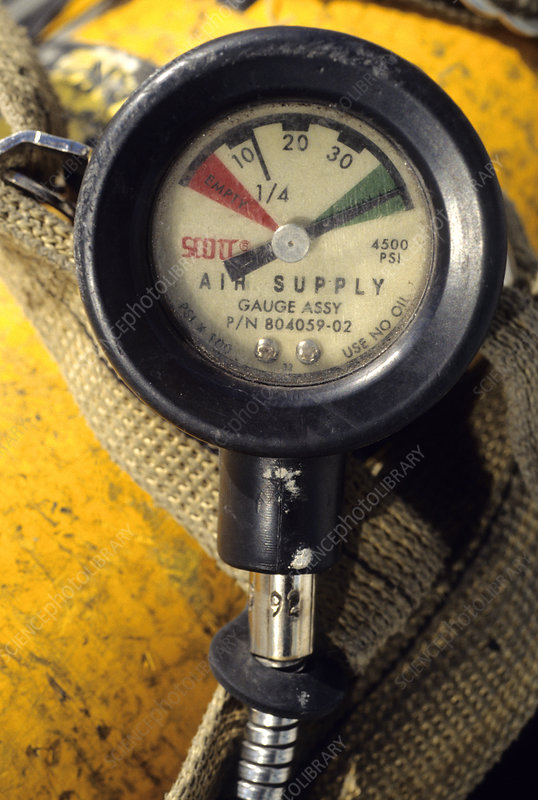 Gauge on Air Tank