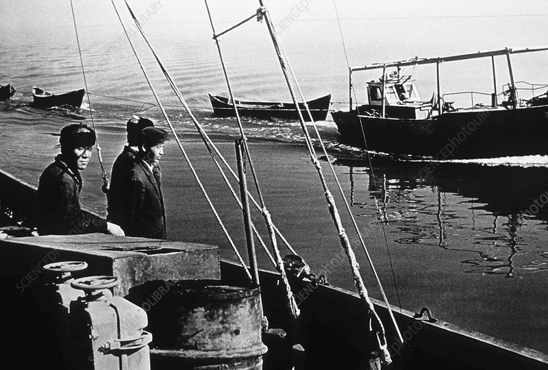 Muynak fishing port, Aral Sea, 1952