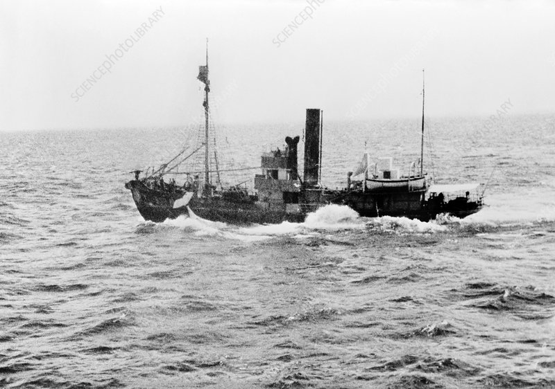 Whaling ship, mid-20th century