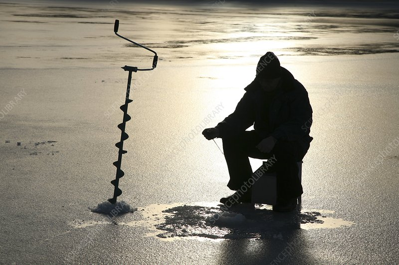 Ice fishing, Sweden