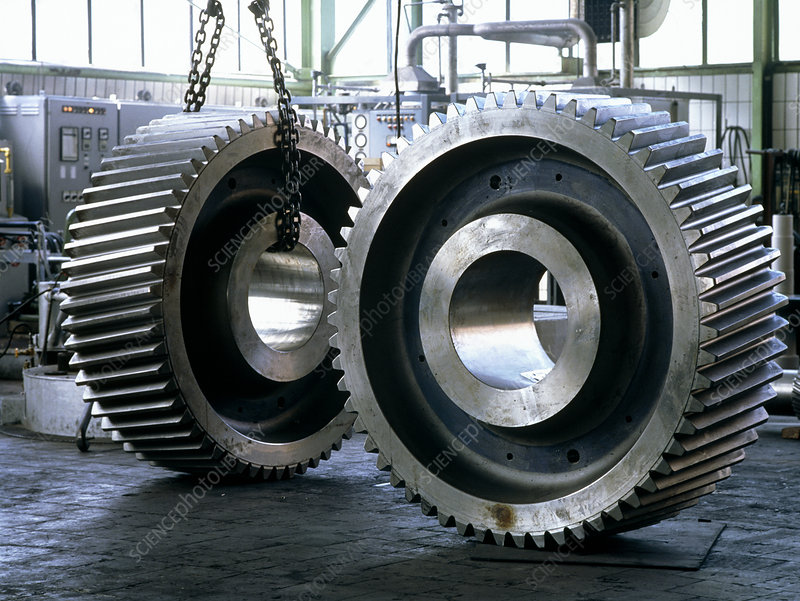 Steel cog for use in rolling mill gears