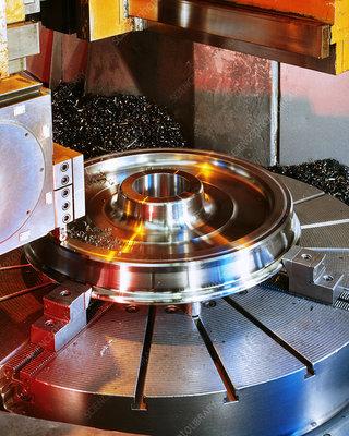 Train wheel production