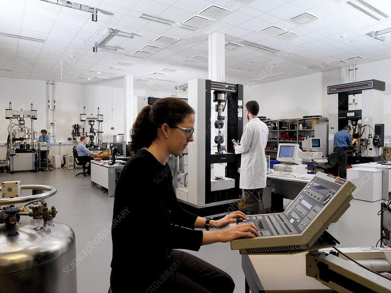 Mechanical testing laboratory