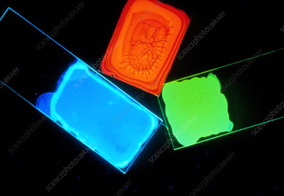 Samples of light-emitting plastic