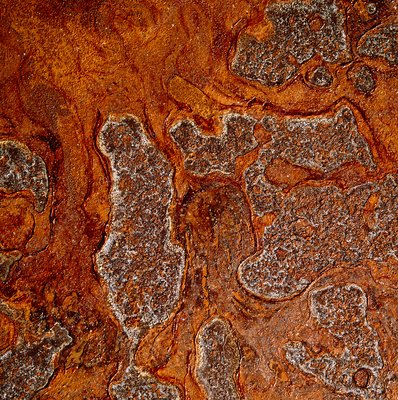 Rust seen on a steel sheet