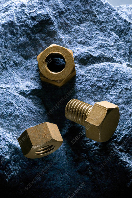 Rusty bolt and nuts
