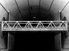 Bridge wind tunnel test, 1954