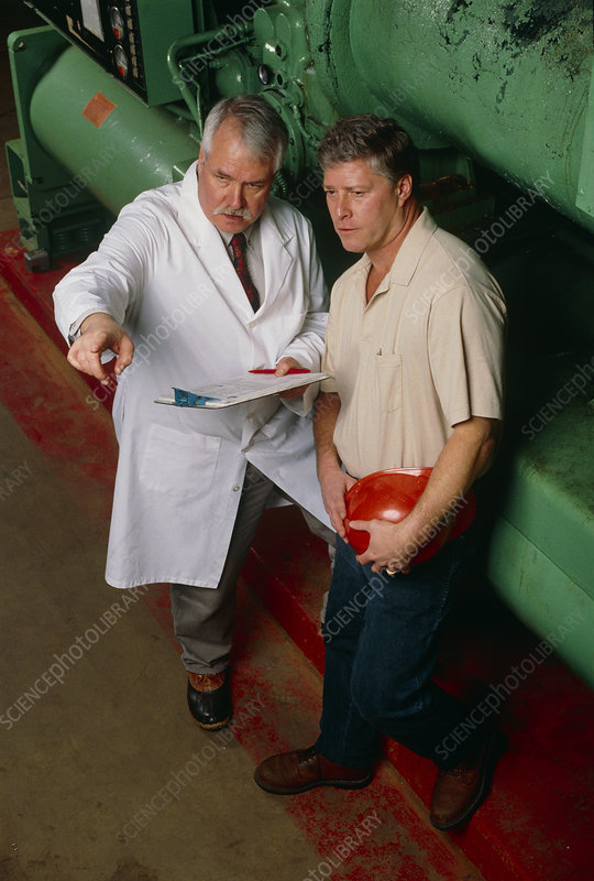Health & safety at work: doctor evaluates dangers