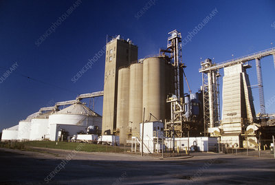 Soy processing plant, Illinois, USA