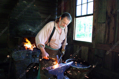 Blacksmith at Virginia Explore Park, VA