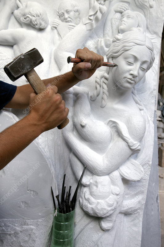 Sculptor at work
