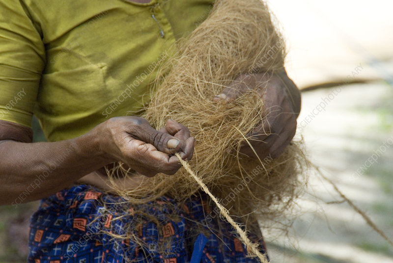 Coir rope production