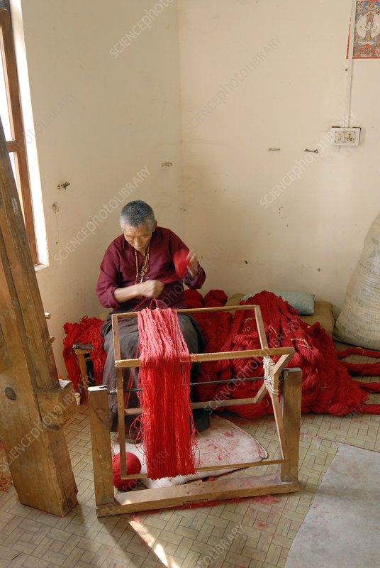 Tibetan carpet maker