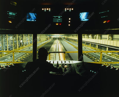 View from control room of a rolling mill