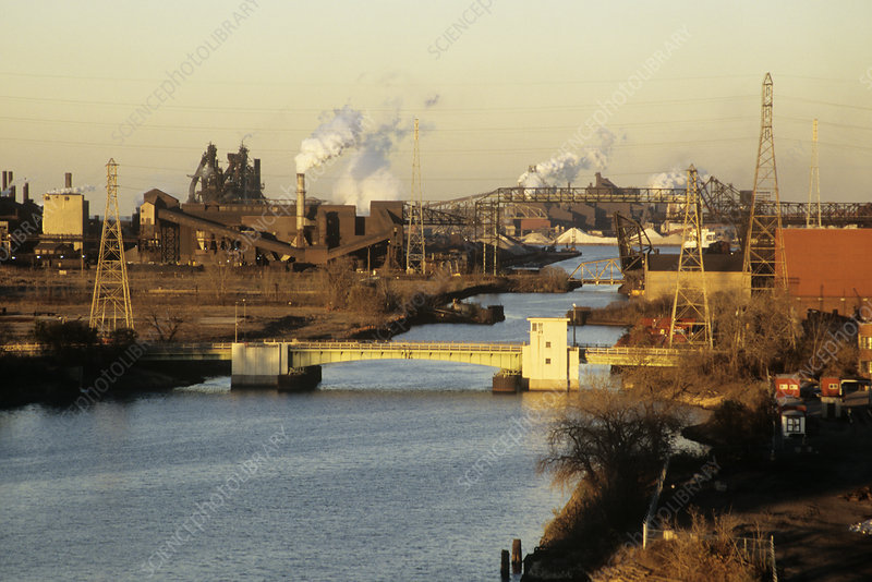 Steel works, Indiana, USA