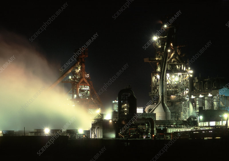 Blast furnace at a steelworks