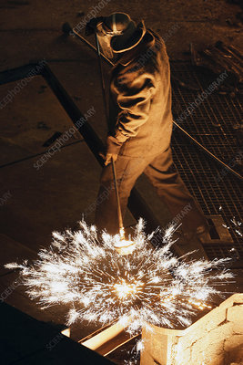 Steel foundry worker