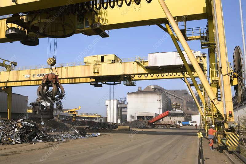 Scrap metal for steel production