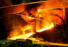 Metalworks foundry worker