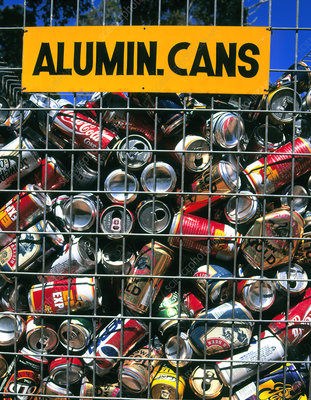 Aluminium drinks cans prior to recycling