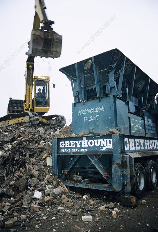 Recycling of construction waste