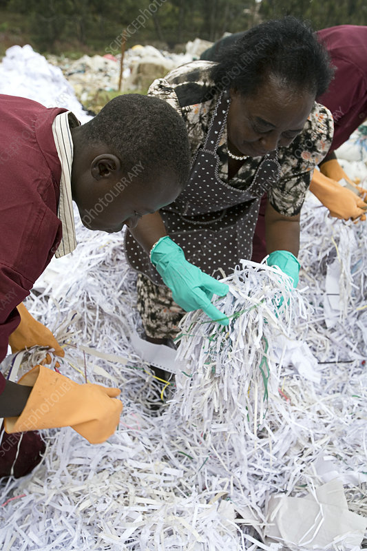 Waste paper recycling, Kenya