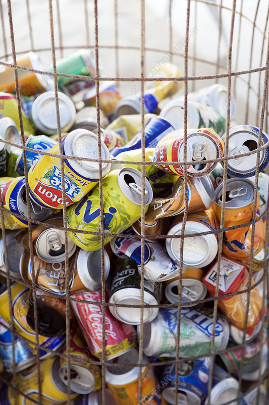 Drinks cans collection bin