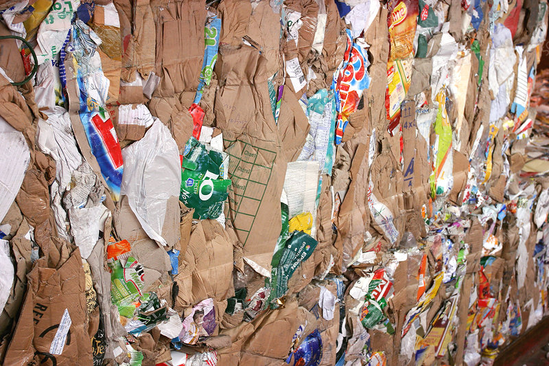Recycling domestic waste, cardboard