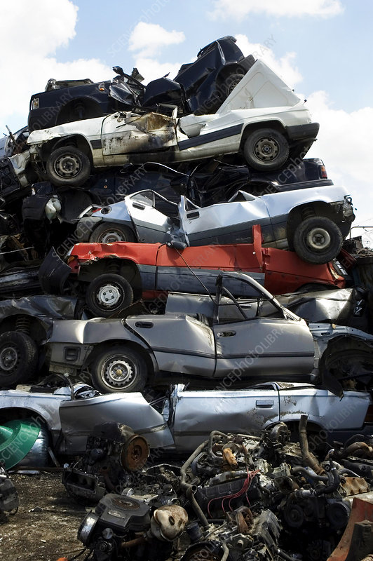 Recycling scrapped cars