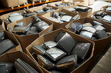 Recycling electrical goods, TV screens