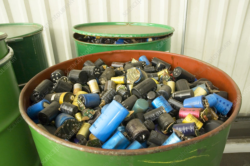 Recycling capacitors