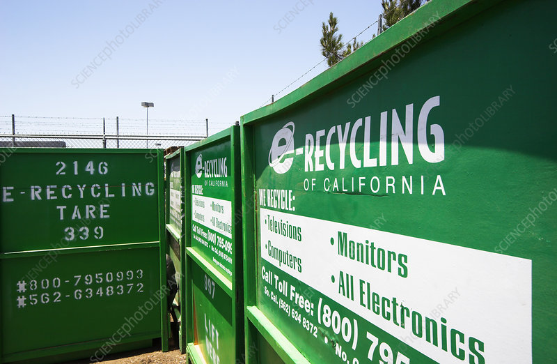 'E-Recycling centre, California'