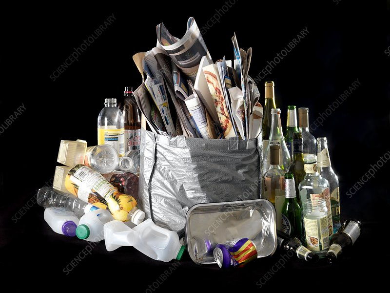 Recyclable household waste