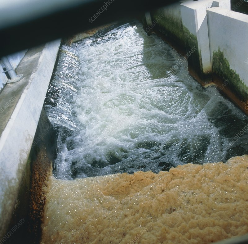 View of flotation waste water treatment