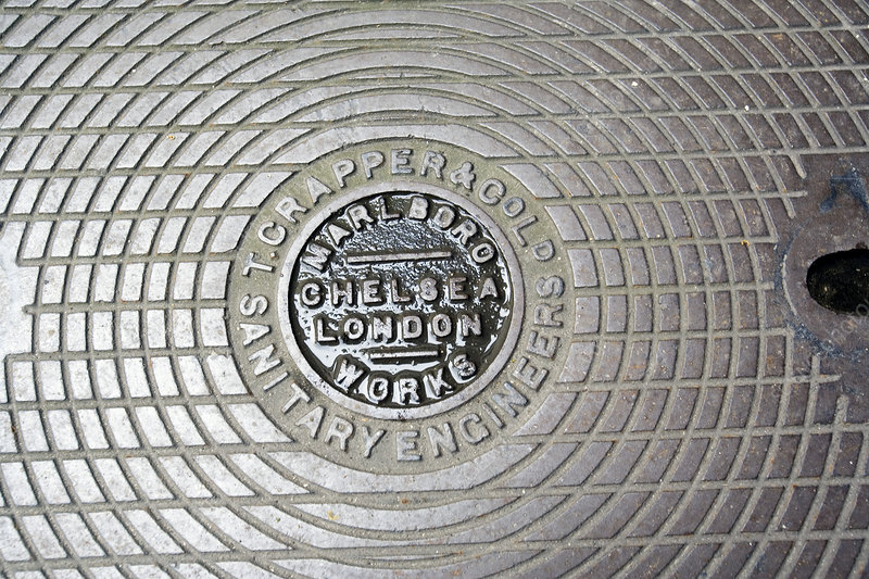 Thomas Crapper manhole cover