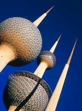 Water storage towers in Kuwait