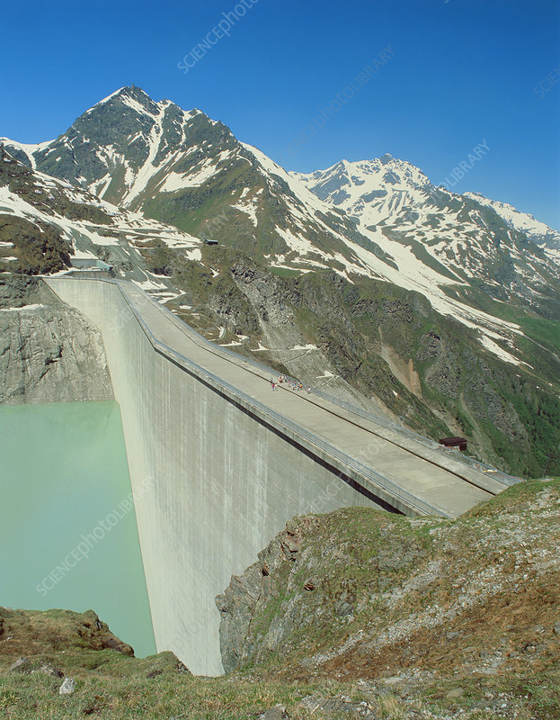 Grand Dixence dam and reservoir, Swiss Alps