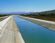 Aqueduct or irrigation canal in California, USA