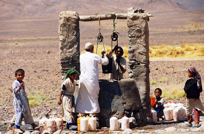 Water well in the Sahara, Morocco