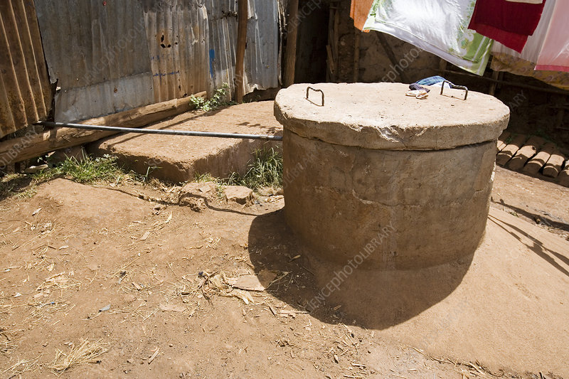 Well and water pipe, Kenya
